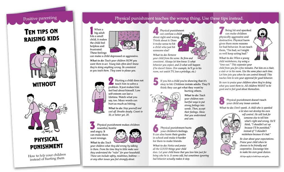 Ten Tips on Raising Kids Without Physical Punishment - English
