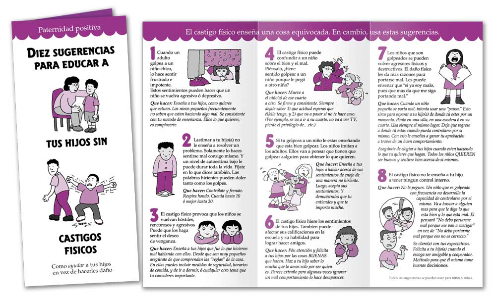Ten Tips on Raising Kids Without Physical Punishment - Spanish
