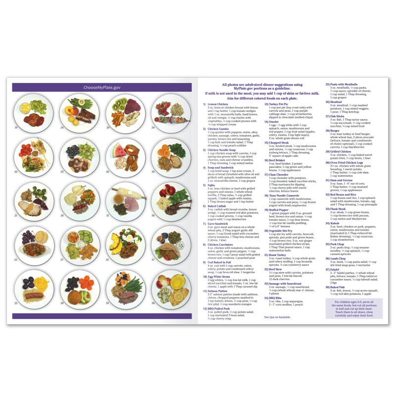 MyPlate Photo Food Pads - Adult Dinner