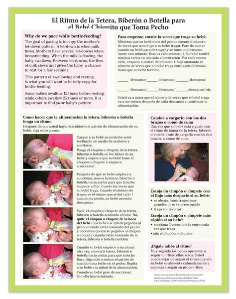 Bottle Pacing for the Breastfed Baby - Spanish