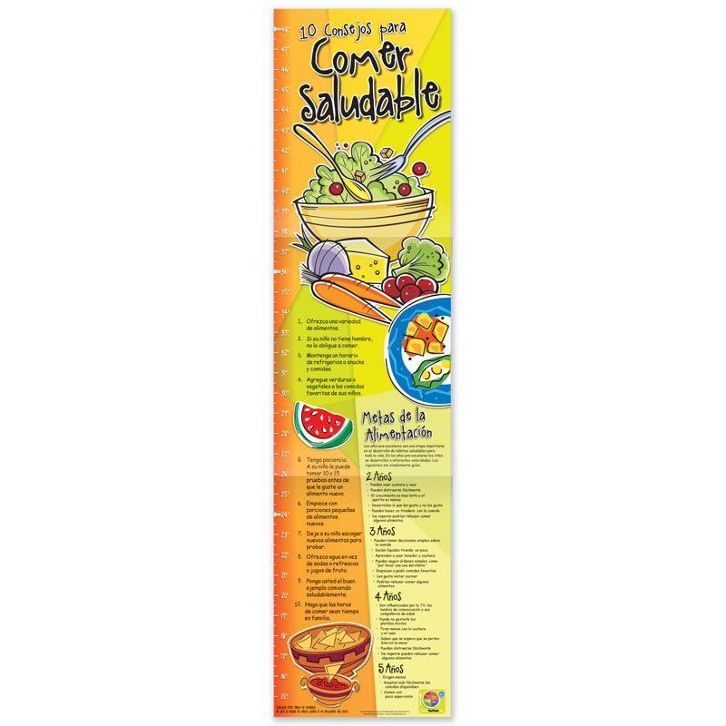 Healthy Eating Growth Charts - Spanish