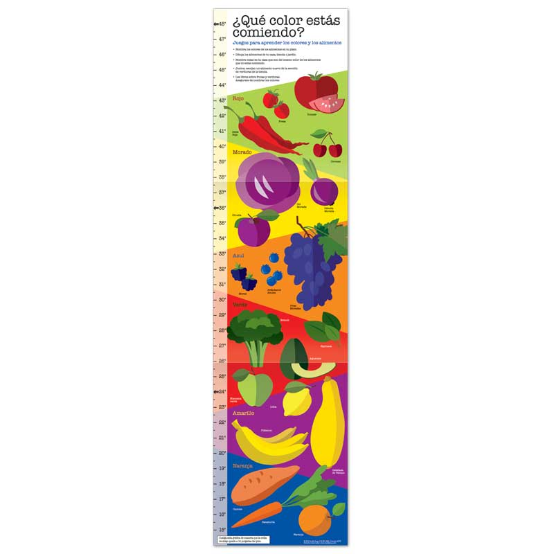 What Color are You Eating Growth Chart - Spanish
