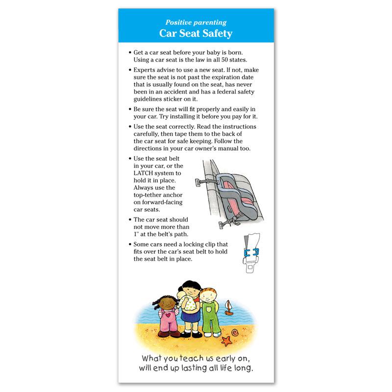 Car Seat Safety flier - English