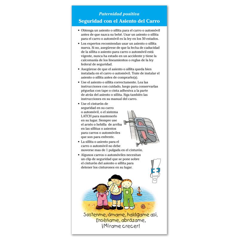 Car Seat Safety flier - Spanish