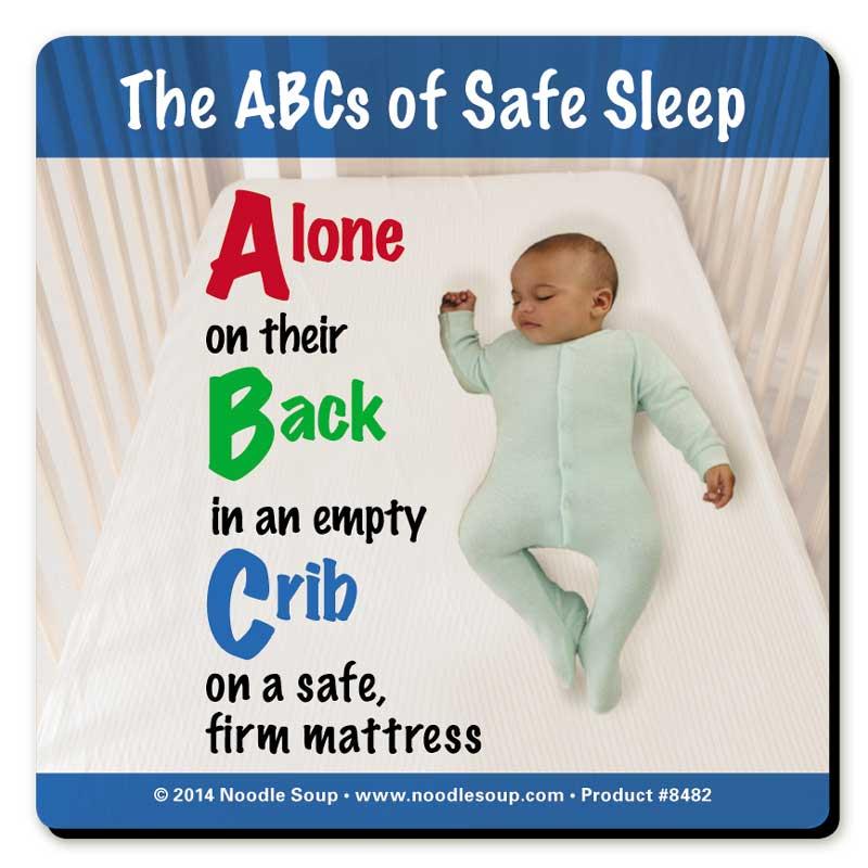 ABCs of Safe Sleep magnet