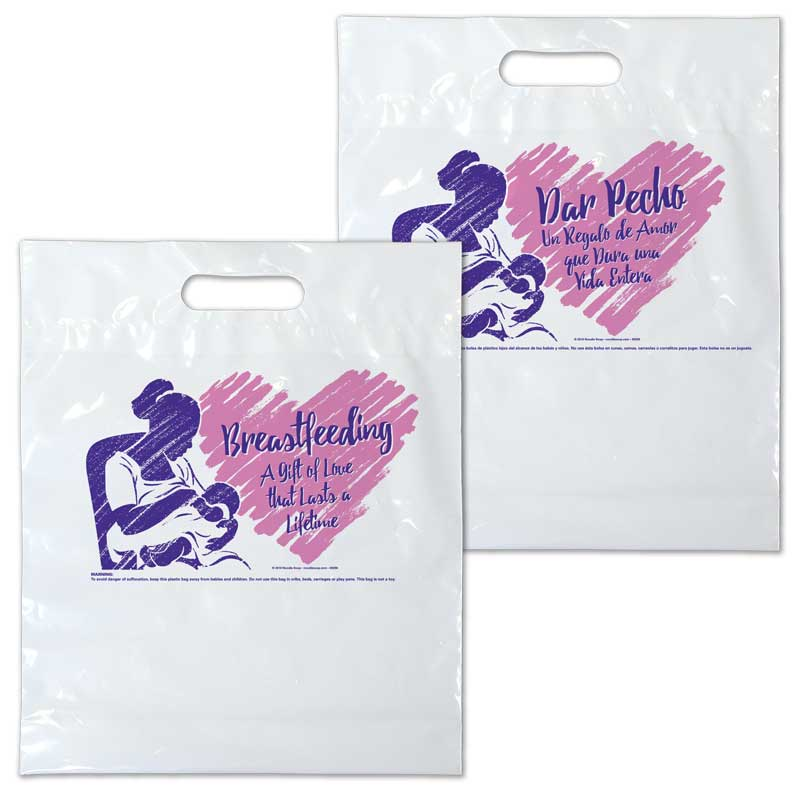 Breastfeeding a Gift of Love plastic bag