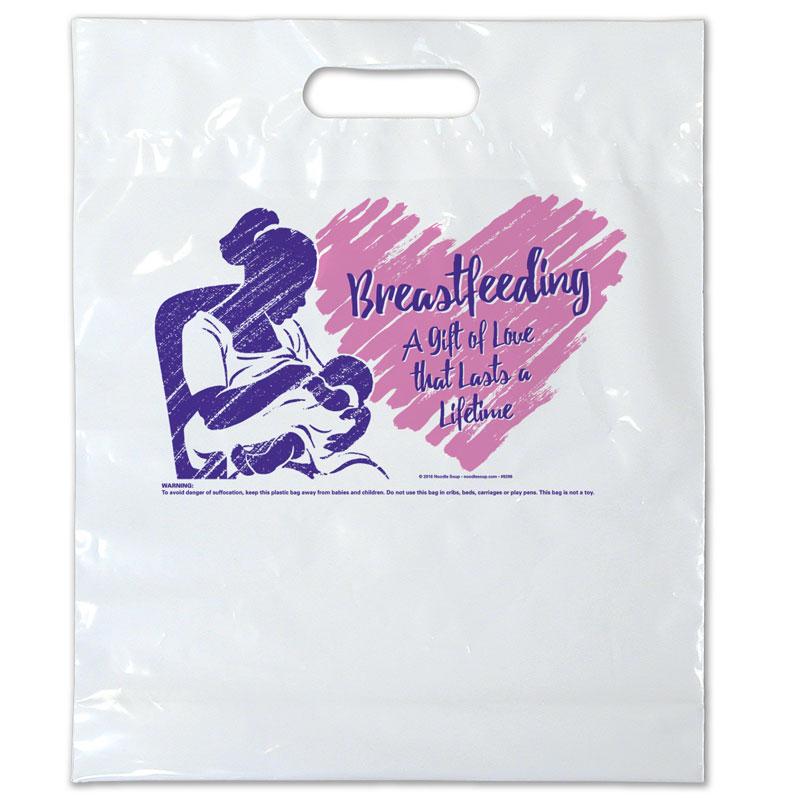 Breastfeeding a Gift of Love plastic bag - English