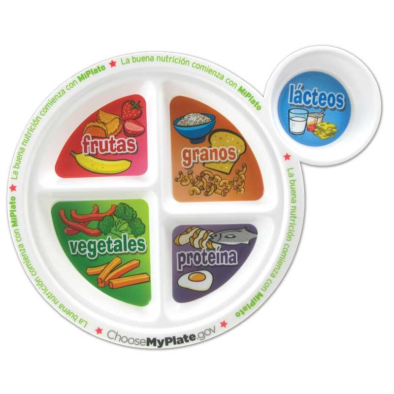 "MyPlate 8"" Plastic Plate - Spanish"