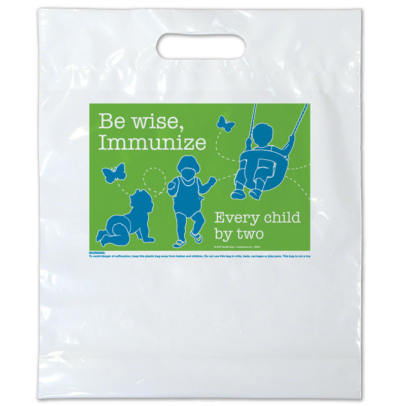 Be Wise plastic bag - English