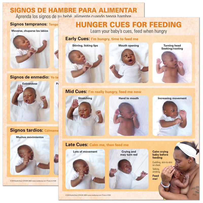 Breastfeeding Hunger Cues Tear Pad - Jasmine