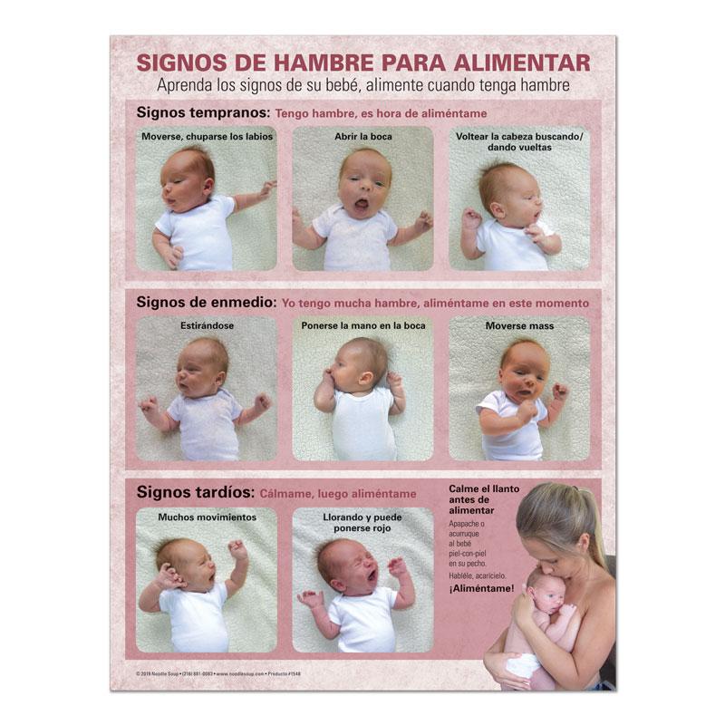 Breastfeeding Hunger Cues Tear Pad - Kenny Spanish