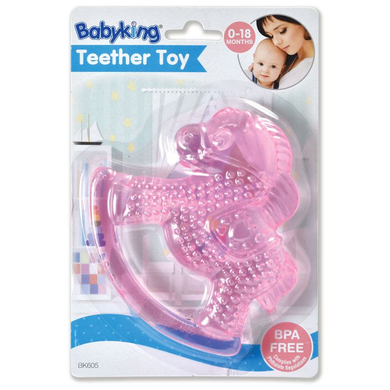 Water Filled Teether Rattles - Pink Horse