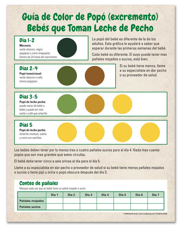 Poop Color Guide - Spanish