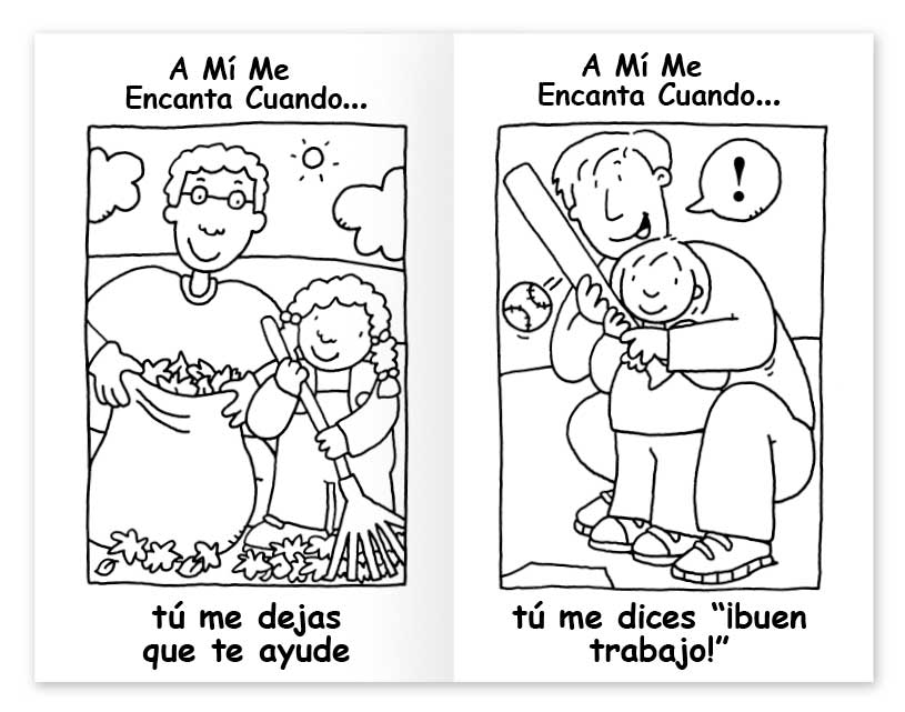 I Love it When coloring book - Spanish