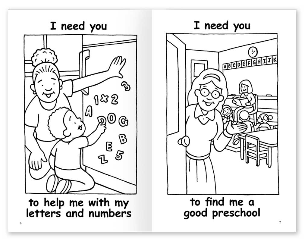 I Need You coloring book