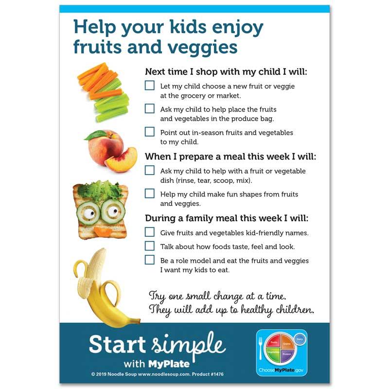 Eat Fruits and Veggies mini tear pad