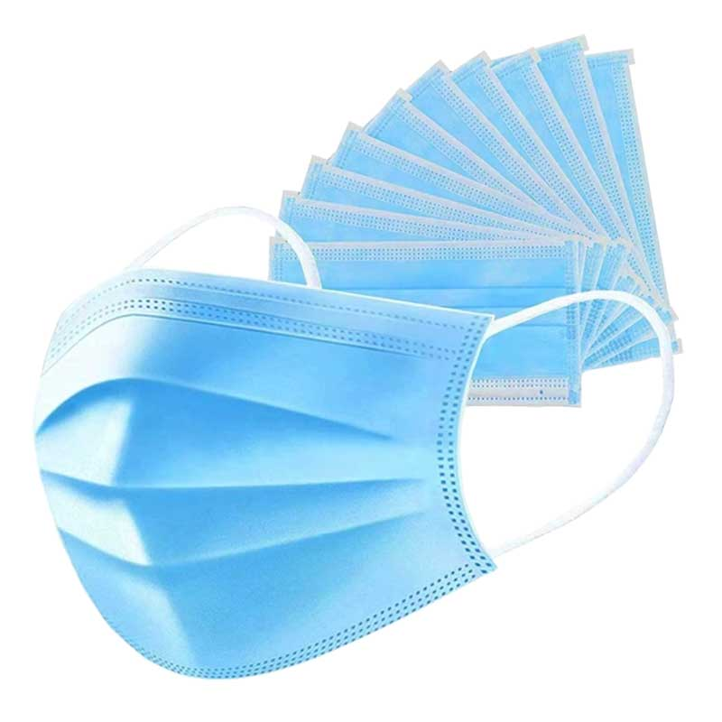 Pleated disposable surgical masks